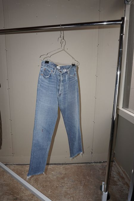 Pre-Loved Re/Done Levi's High Rise Ankle Crop Jean - Indigo