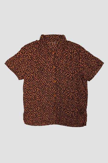 Vintage Rayon Button Up - Animal