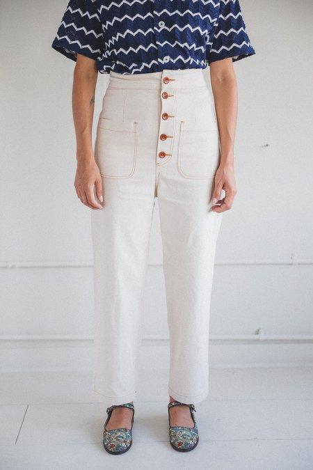 Caron Callahan Emily Canvas Pant - Cream