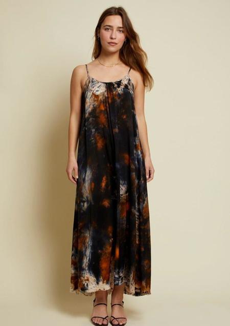 Nation Lila Sateen Maxi Dress - Acrylic
