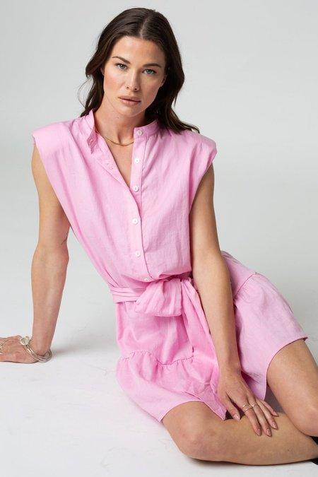 Stillwater Strong Shoulder Mini Dress - Bubblegum
