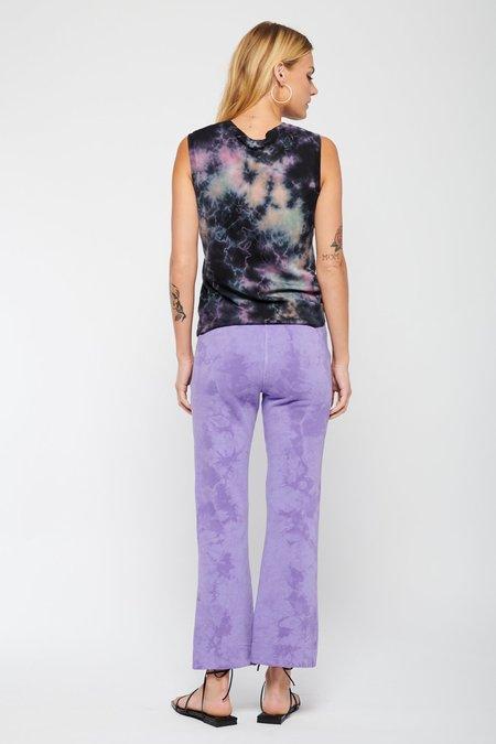 Raquel Allegra Flood Tracker Tie Dye Pant - Purple Cloud