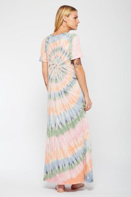 Raquel Allegra Flutter Tie Dye Dress - Pastel Spiral