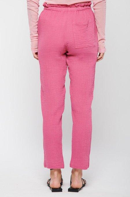 Raquel Allegra Tie Gauze Pant - Bright Pink