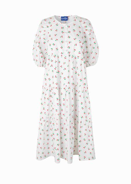 Cras Evie Dress - White Cherry