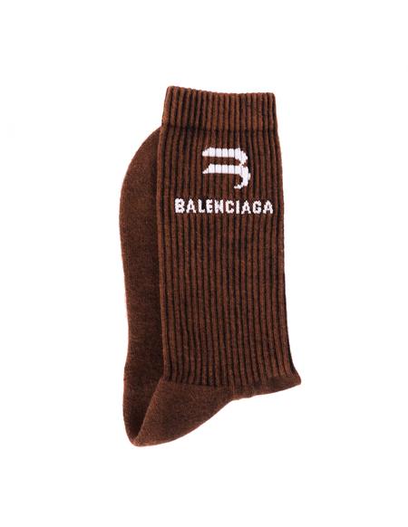 Balenciaga Logo Socks - Brown