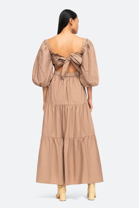 Sea NY Claudine Puff Smocked Dress - Chino