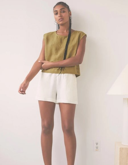 Eve Gravel By The Sea Shorts - Ivory