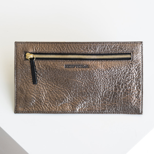 Kempton & Co Topsy Turvy Wallet - Bronze/Black