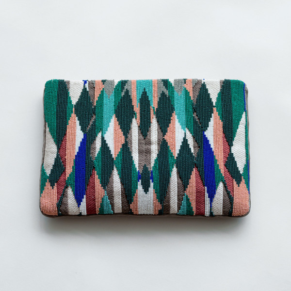 Megan Park Zahara Embroidered Clutch