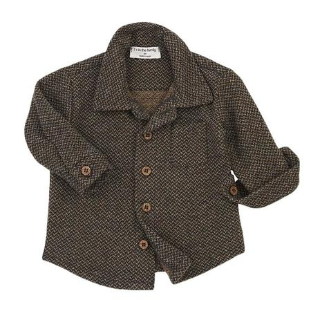 Kids 1+ In The Family Baby And Child Beneth Shirt - Charcoal Grey