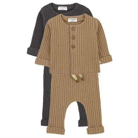 Kids  1+ In The Family Baby And Child Two Piece Ribbed Set