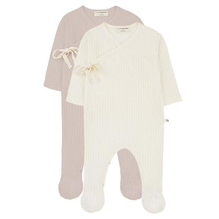 Kids 1+ In The Family Baby Sonia Striped Jumpsuit With Feet