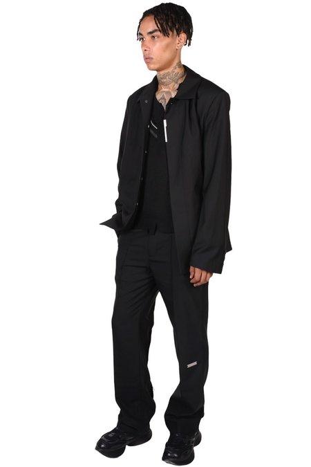C2H4 Raw Edge Tailored Trousers - BLACK