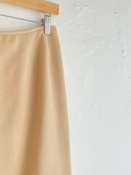Vintage Pencil Skirt - yellow