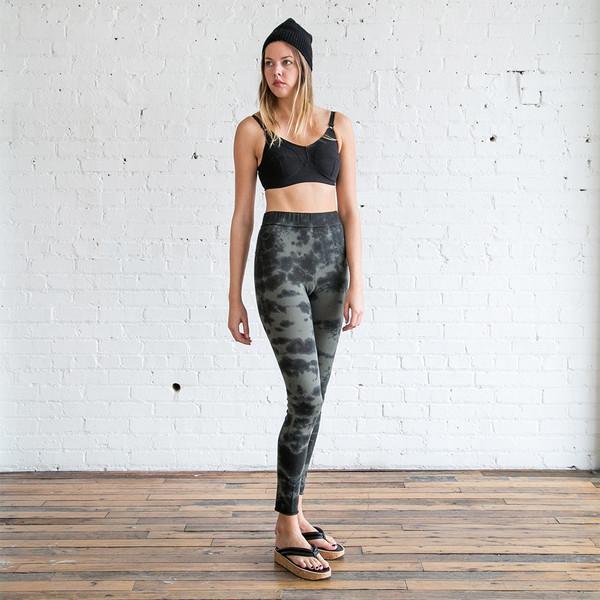 Raquel Allegra Tie Dye Jersey Leggings Army