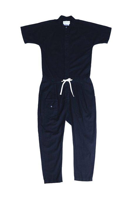Unisex SEEKER Short Sleeve Jumpsuit - Black