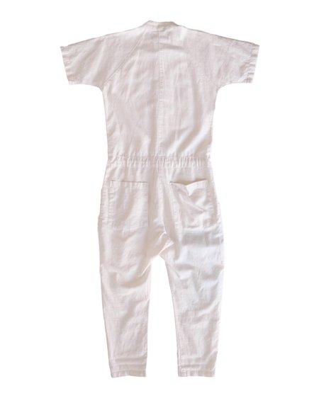 Unisex SEEKER Short Sleeve Jumpsuit - Natural