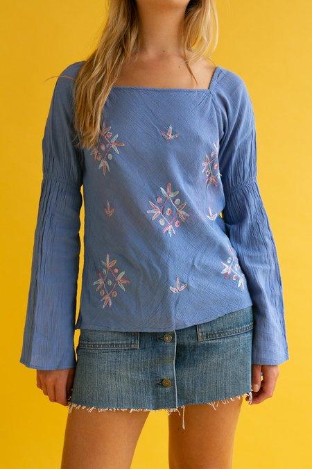 Vintage 1990s Embroidered Folk Blouse