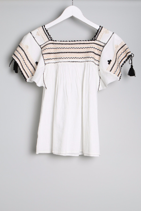 Ulla Johnson Estela Embroidery Top