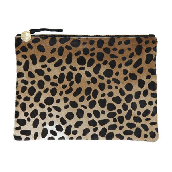 Clare V. Flat Clutch Leopard