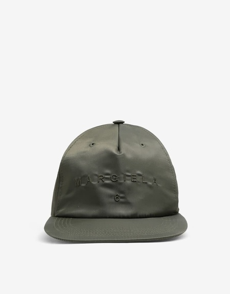 MM6 Maison Margiela Nylon Logo Ball Cap - Military Green
