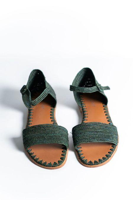 Proud Mary Footwear Raffia Sandal - Forest
