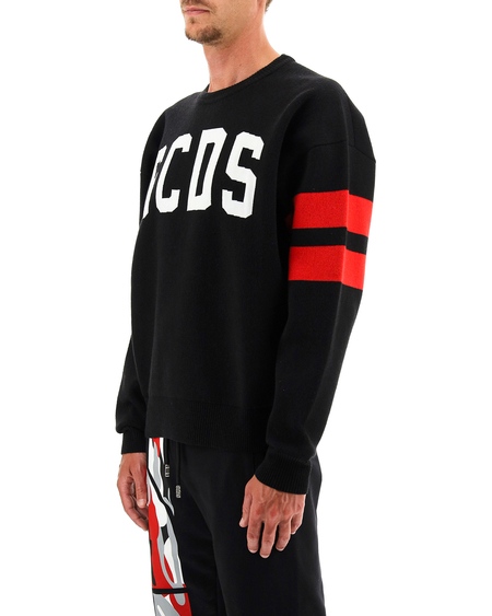 GCDS logo Sweatshirt - Black