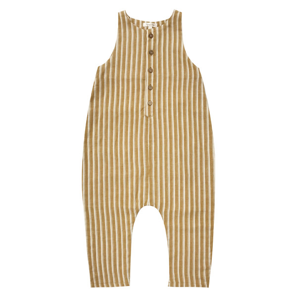 Kid's Rylee & Cru PINSTRIPE BUTTON JUMPSUIT