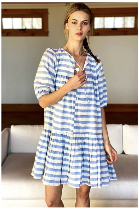 Emerson Fry Puff Isla Dress - Striped