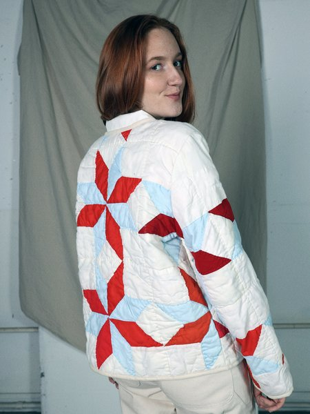 Marvin Ruby Eight Pointed Star Quilted Jacket