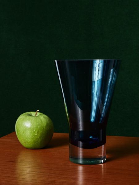AYTM Navy Glass Vase