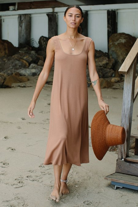 Rachel Pally Hemp Rib Van Dress - Acorn