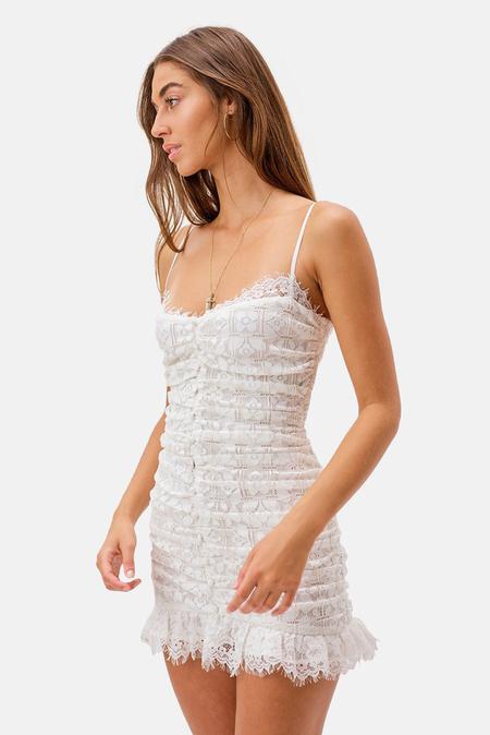 Women's For Love & Lemons Samira Mini Dress - White