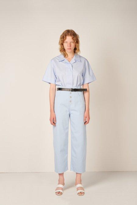 MM6 Maison Margiela Cropped High Waisted Jeans - Light Blue