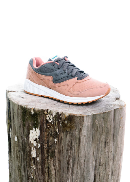 Saucony GRID 8000 (Salmon/Charcoal)