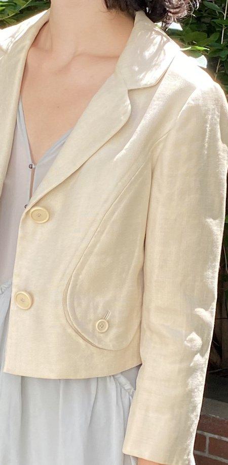 Vintage Bill Blass Silk/Linen Cropped Jacket