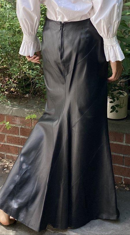 Vintage Pamela Dennis  Maxi Leather Skirt