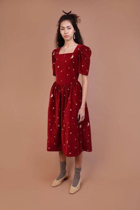 Meadows Caster Dress - Red Velvet