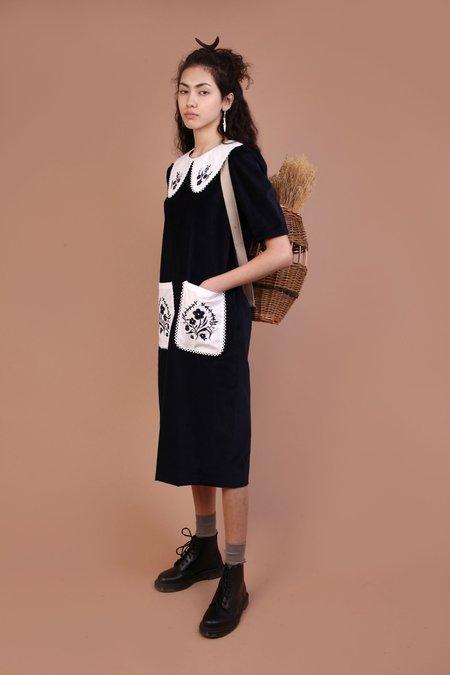 Meadows Hawthorn Dress - Navy Velvet