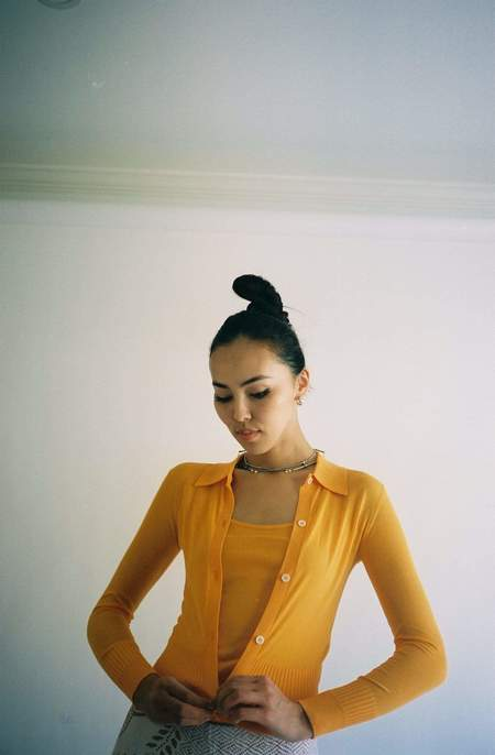 Maryam Nassir Zadeh Ceylon Cardigan - Tangerine