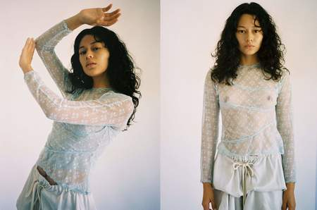 Yuhan Wang Tiered Lace Top - IVORY