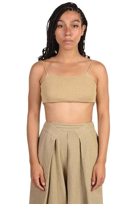 Mónica Cordera Smoked Knit Linen Top - Green