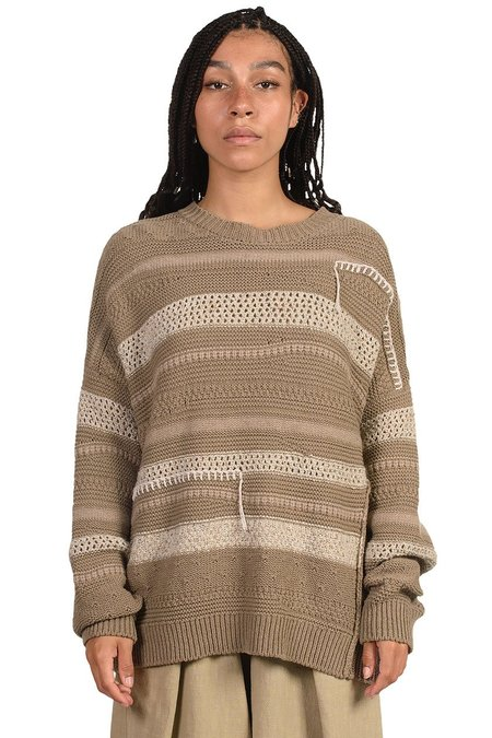 Mónica Cordera Patched Sweater - TAUPE