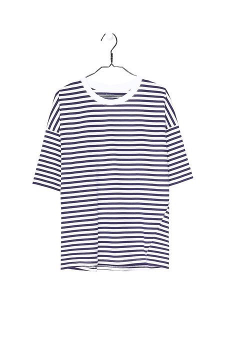 Kowtow Tall Tee - Blue White Stripe