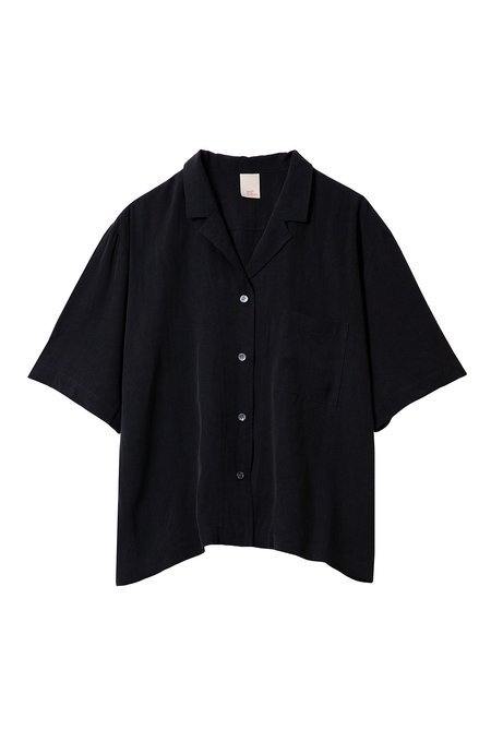 Soft Focus The Short Sleeve Shirt - Silky Black