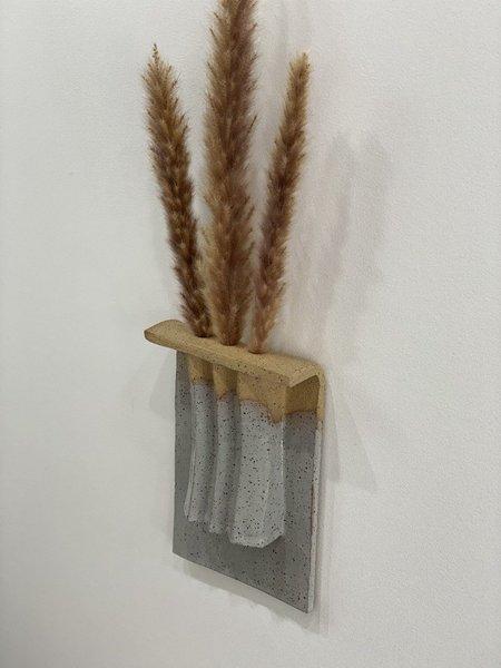Yue Zhou Studio Ceramic Wall Hanging 1 - Gray