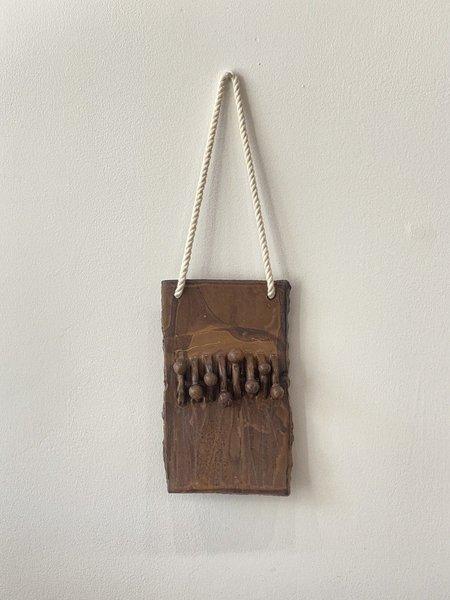Yue Zhou Studio Ceramic Wall Hanging 7 - Brown