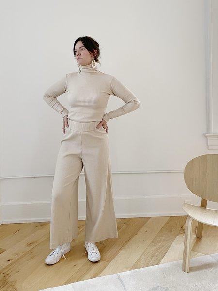 Basic Color Pants in Beige by Delfina Balda