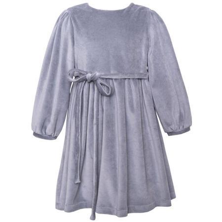 Kids paade mode velvet dress - grey